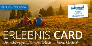 Erlebniscard für die Region Villach